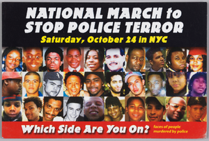Postcard for the National March to Stop Police Terror
