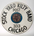 Drumhead used by Stock Yard Kilty Band