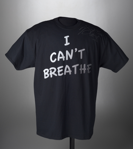 """T-shirt with """"I Can't Breathe"""" worn and signed by Derrick Rose during warm-ups"""