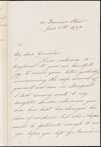 Letter from George Thompson, [England], to William Lloyd Garrison, 1877 June 6th