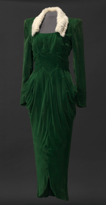 Green velvet dress worn by Lena Horne in the film Stormy Weather