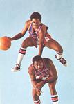 Mel Davis and Bill Meggett Harlem Globetrotters Card