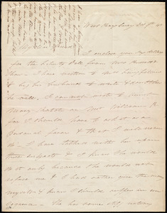 Letter from Eliza Lee Cabot Follen, West Roxbury, [Mass.], to Maria Weston Chapman, Oct. 9th, [18]43