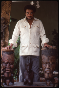 Bill Withers: Withers surrounded by African sculpture