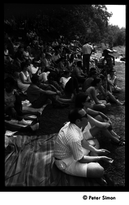 Concert goers at Jackie Robinson's jazz concert