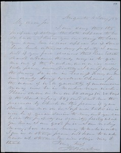 F. C. Barber, Augusta, Ga., autograph letter signed to Ziba B. Oakes, 4 January 1854