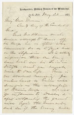 General William Tecumseh Sherman to Brigadier General George Henry Thomas, 1864 May 30