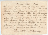 Bill of indictment for theft against a slave belonging to Ritchard Potts, 1839
