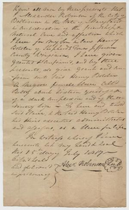 Robinson to Boteler: Deed of Gift of Negroe Betsy