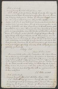 Court documents relating to the sale of slave: Miranda, belonging to Benjamin Farmer of Murphreesborough, Tenn., Warren County, Ky.
