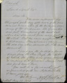 Letter, To: David Lynch, From: Ross Wilkins, May 22, 1856.