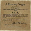 Advertisement for Runaway Slave Milton NY