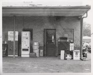 Mississippi State Sovereignty Commission photograph of rear entrance door to the Trailways bus depot in Winona, Mississippi, 1961 November 1