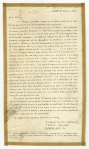 Fund raising letter from the American Anti-Slavery Society