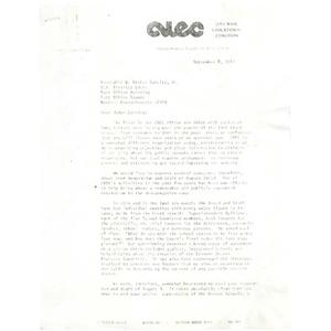 Letter, Judge W. Arthur Garrity, September 8, 1982