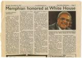 """Memphian honored at White House"""