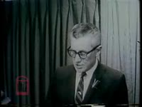 WSB-TV newsfilm clip of Florida governor LeRoy Collins speaking at a press conference about the sit-in campaign against segregated lunch counters, Jacksonville, Florida, 1960 March 20