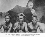 The Kiamvo, Mwene Puto Kasongo [centre figure]. From a photograph taken by Pére Butage in 1906