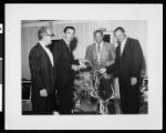 Group photograph featuring jazz musician Al Williams, Los Angeles, 1962