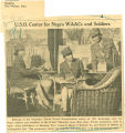 U.S.O. center for Negro WAACs and soldiers; Register (Des Moines, Iowa); Women's military activity