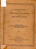 A practice book for observation and teaching in small rural schools