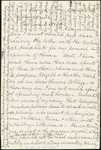 Letter from Lucretia Mott, Orange, N[ew] J[ersey], to Richard Davis Webb, 1871 [May] 4th