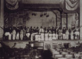 Two photographs of minstrel shows at the Sorg Opera House, Middletown, Ohio, undated
