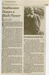 """Smithsonian Honors a Black Pioneer"" News Clipping"