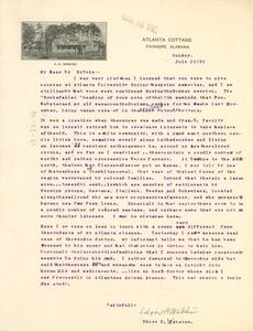 Letter from Edgar H. Webster to W. E. B. Du Bois