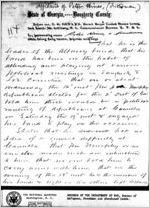 Affidavit of Peter Hines: Albany, Georgia, 1868 Sept. 23