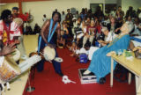 Mor Thiam performing for Katherine Dunham and an audience