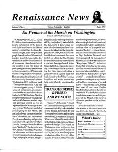 Renaissance News, Vol. 7 No. 6 (June 1993)