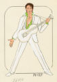 Costume design drawing, male dancer in an Elvis costume, Las Vegas, June 5, 1980