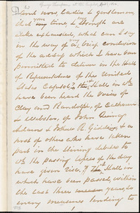 Letter from George Thompson, [Washington, D.C.], [1864 April 6]