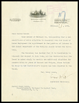 Letter from Cyrus Adler, Assistant Secretary, to Frank Baker, Superintendent of the National Zoo 2/21/1908