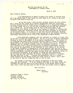 Letter from NAACP to Columbia University Teachers College