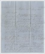 Letter and account sales statement from William W. Allen, Mobile, Alabama, to John Cocke, Withers Landing, Alabama, January 10, 1851