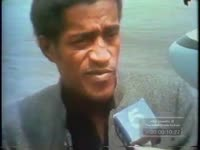 Series of WSB-TV newsfilm clips of Sammy Davis, Jr. and Nancy Wilson arriving for the funeral of Martin Luther King, Jr. and Davis, Jr. discussing his reasons for attending, Atlanta, Georgia, 1968 April 8