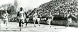 Ralph Metcalfe wins sprint at Drake Relays, 1933