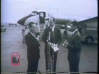 WSB-TV newsfilm clip of Assistant Attorney General Byron White speaking to reporters about the presence of federal marshals following an attack on the Freedom Riders in Montgomery, Alabama, 1961 May