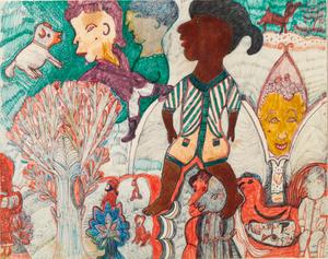 Untitled (Landscape with Black Girl)