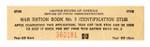 War ration book no. 3 identification stub