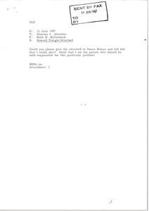 Fax from Mark H. McCormack to Alastair J. Johnston
