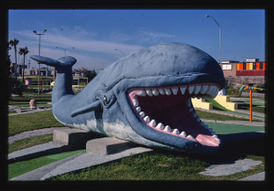 Stewart Beach mini golf, whale, Galveston, Texas