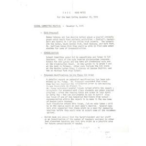 CWEC news notes for week ending December 10, 1976