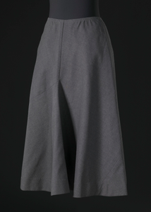 Grey wool skirt designed by Arthur McGee