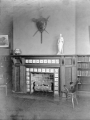 Hough Branch 1907: Carnegie building interior detail, fireplace in children's room with story tile