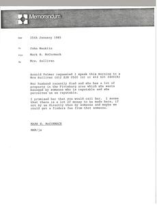 Memorandum from Mark H. McCormack to John Macklin