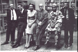 Participants in the Black Writers' panel, Countee Cullen Branch, New York Public Library, New York, N.Y., May 1963