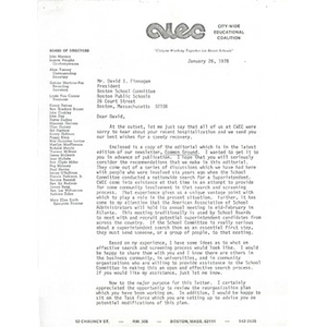 Letter, David I. Finnegan, January 26, 1978